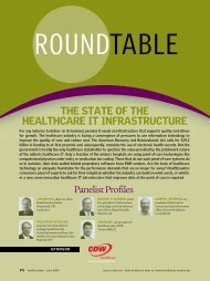 The STaTe of The healThcaRe iT infRaSTRucTuRe - HealthLeaders ...