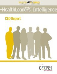 Download the CEO Report (PDF) - HealthLeaders Media