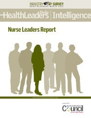 Nurse Leaders report - HealthLeaders Media
