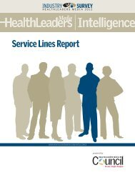 Download the Service Lines Report - HealthLeaders Media