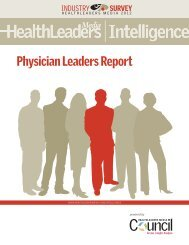 Physicians' Leaders Report - HealthLeaders Media