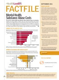 Mental Health, Substance Abuse Costs > - HealthLeaders Media