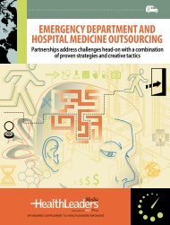 $$ EmErgEncy DEpartmEnt anD Hospital mEDicinE outsourcing