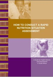 How to conduct a rapid nutrition assessment - Health Systems Trust