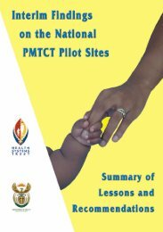 Interim Findings of the National PMTCT Pilot Sites - Health Systems ...
