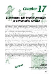 Monitoring the implementation of community service