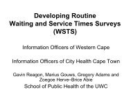 Developing Routine Waiting and Service Times Surveys (WSTS)