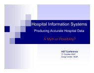 Hospital Information Systems - Health Systems Trust