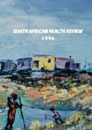SA HEALTH REVIEW 1996 - Health Systems Trust