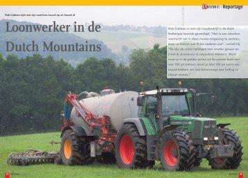 Loonwerker in de Dutch Mountains