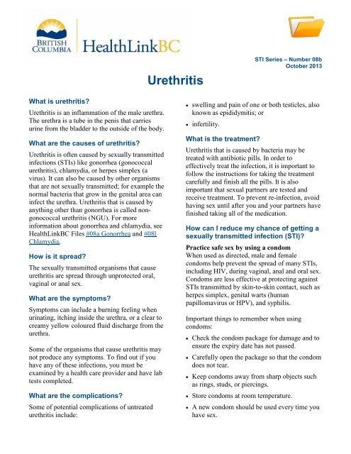 urethritis through oral