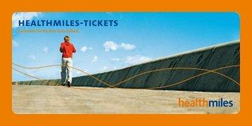 meine eingereichten healthmiles-tickets