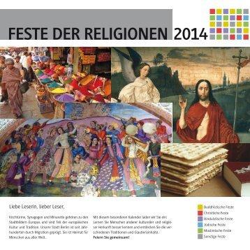 Feste der Religionen 2014
