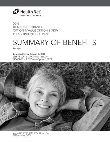suMMaRY OF BeNeFits - Health Net