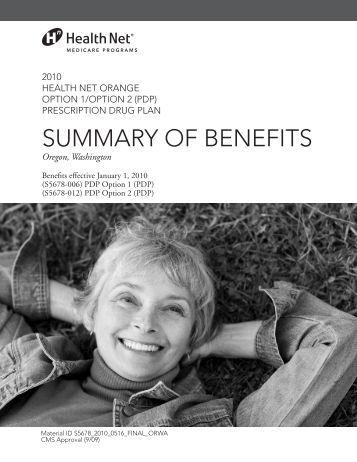 suMMaRY OF BeNeFits - Health Net