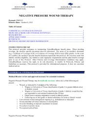 NEGATIVE PRESSURE WOUND THERAPY - Health Plan of Nevada