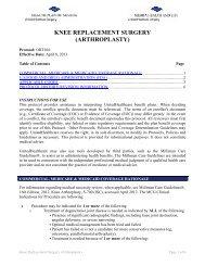knee replacement surgery (arthroplasty) - Health Plan of Nevada