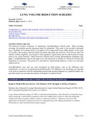SUR035 Lung Volume Reduction Surgery - Health Plan of Nevada