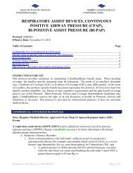 Respiratory Assist Devices CPAP-BiPAP - Health Plan of Nevada