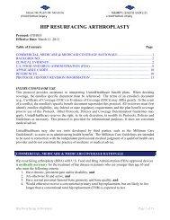 OTH035 Hip Resurfacing Arthroplasty - Health Plan of Nevada