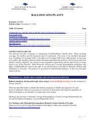 BALLOON SINUPLASTY - Health Plan of Nevada