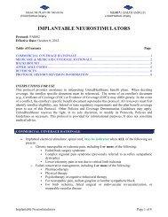 IMPLANTABLE NEUROSTIMULATORS - Health Plan of Nevada