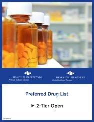 2-Tier Open Preferred Drug List - Health Plan of Nevada