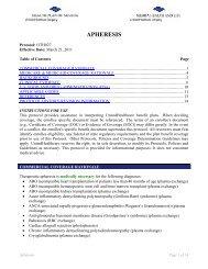 APHERESIS - Health Plan of Nevada