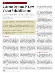 Current Options in Low Vision Rehabilitation - HealthPlexus.net