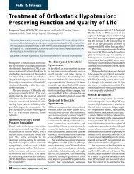 Treatment of Orthostatic Hypotension: Preserving ... - HealthPlexus.net
