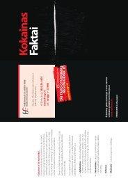 Kokainas Faktai - Health Promotion Unit