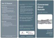 Concerned About Suicide - Health Promotion Unit