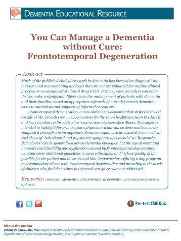 Frontotemporal Degeneration - HealthPlexus.net