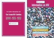 Information on HIV - Health Promotion Unit
