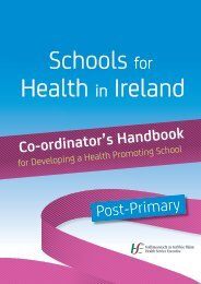 Schools for Health in Ireland Co-ordinator's Handbook