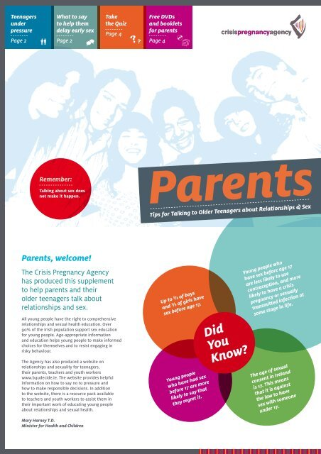 Parents, welcome! - Health Promotion Unit
