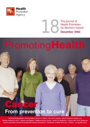 Journal 18 pdf version - Health Promotion Agency