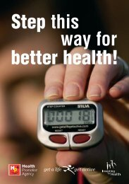Step this way for better health! - Health Promotion Agency