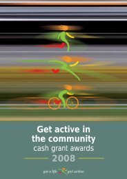 Get active in the community 2008 - Health Promotion Agency