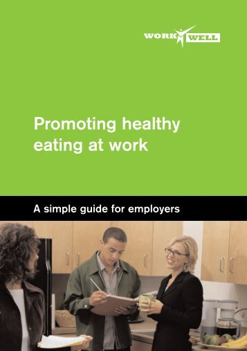 Promoting healthy eating at work - Health Promotion Agency