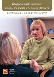 Motivational Interviewing - Health Promotion Agency