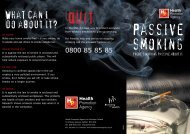 Passive Smoking - Health Promotion Agency