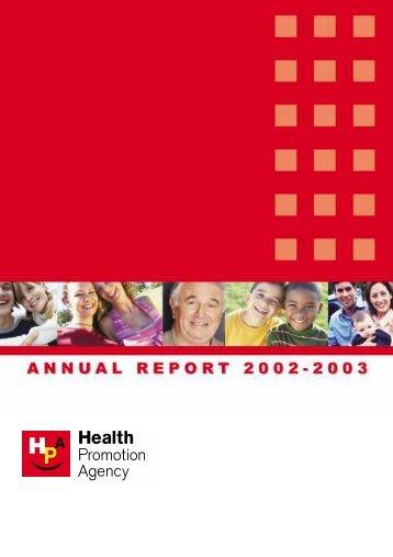 AR 2003 latest - Health Promotion Agency