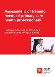 Assessment of training needs of primary care health professionals