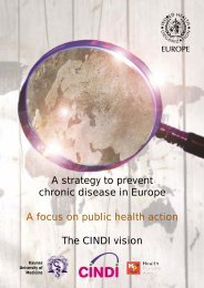 A strategy to prevent chronic disease in Europe A focus on public ...