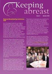 Regional Breastfeeding Conference 2003 - Health Promotion Agency