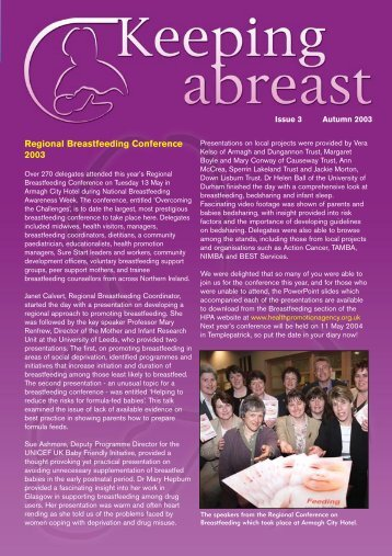 Regional Breastfeeding Conference 2003 - Health Promotion Agency