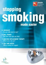 Smoking helps me cope with stress - Health Promotion Agency