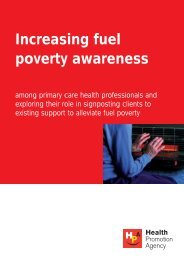Increasing fuel poverty awareness - Health Promotion Agency