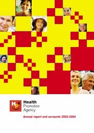 Annual report and accounts 2003-2004 - Health Promotion Agency